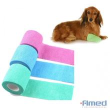 DOG, CAT, PUPPY, HORSE NON-WOVEN VET WOUND COHESIVE BANDAGE WRAP TAPE